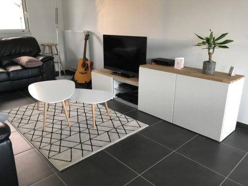 Décoration et Aménagement d'un séjour et d'un bureau