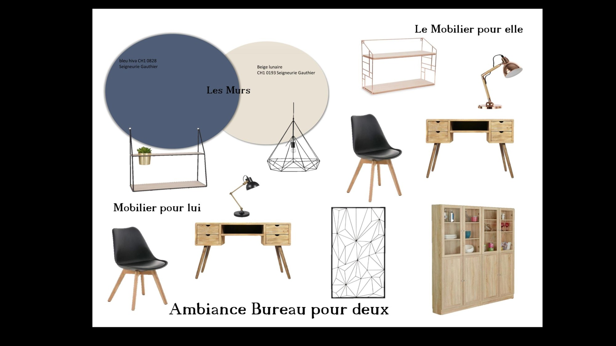 un bureau pour deux d coratrice d 39 int rieur ma d co de f e. Black Bedroom Furniture Sets. Home Design Ideas
