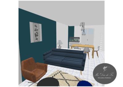 Décoration salon/salle à manger_ Neuville St Rémy