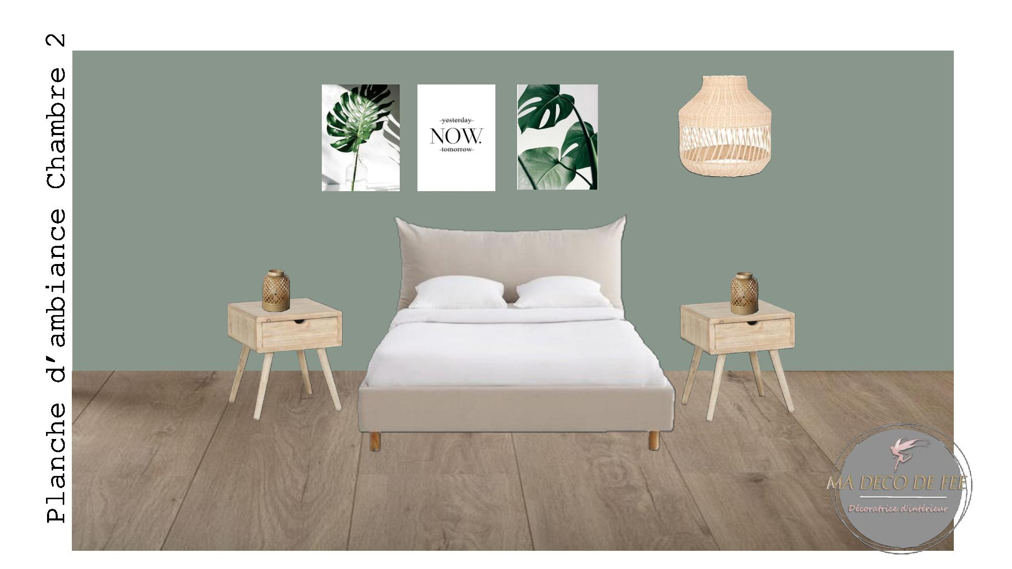 Planche d'ambiance chambre